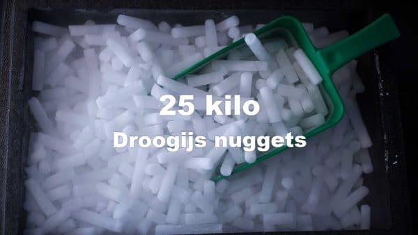 droogijs nuggets 25 kilo in doos