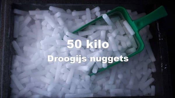 droogijs nuggets 50 kilo in doos